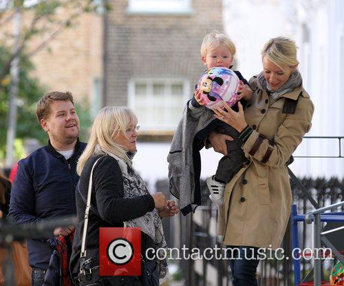 Newlyweds James Cordon, Julia Carey, Max, North London. The, At, Corden and Spongebob Squarepants 45