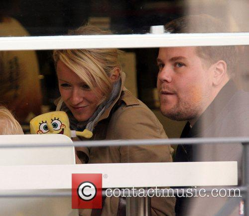 Newlyweds James Cordon, Julia Carey, Max, North London. The, At, Corden and Spongebob Squarepants 48
