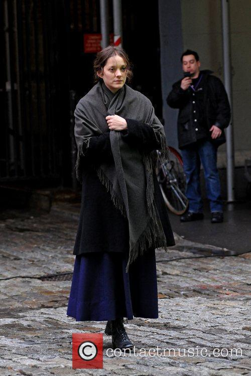 Marion Cotillard on the set of 'Untitled James...