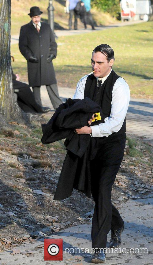 Joaquin Phoenix filming Untitled James Gray Project on...