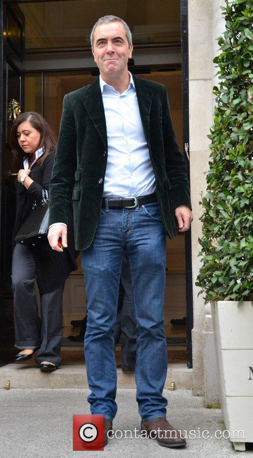 James Nesbitt  spotted leaving The Merrion Hotel...