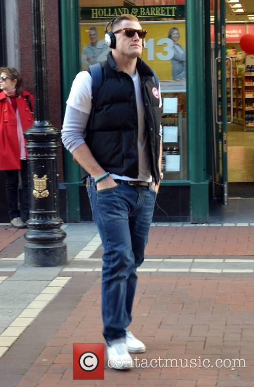 Ireland Rugby Captain Jamie Heaslip spotted looking very...