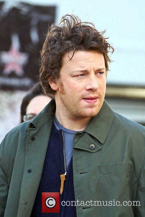 Jamie Oliver out and about in Hampstead