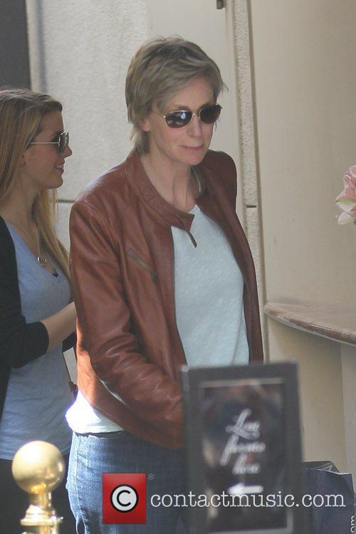 Jane Lynch shopping at The Grove Los Angeles,...
