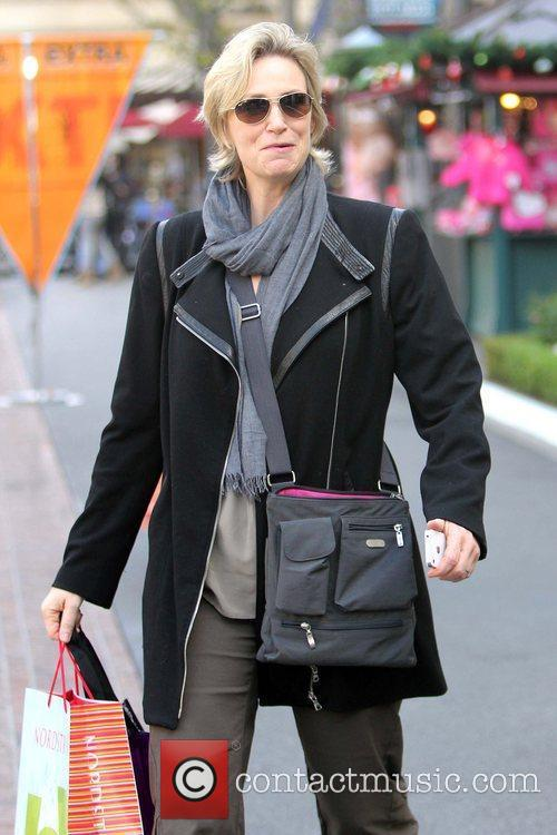 Jane Lynch  shopping at The Grove for...