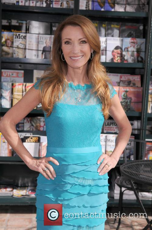 Actress/author Jane Seymour autographing her new book 'Open...