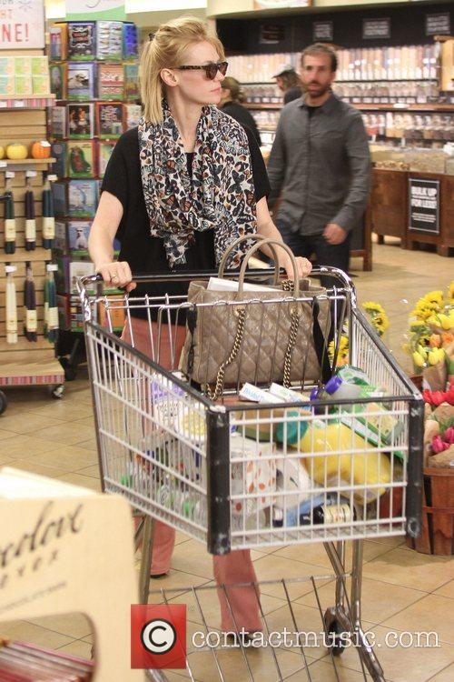 January Jones is seen shopping at Whole Foods...