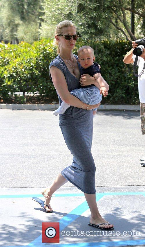 Seen carrying son Xander in Pasadena