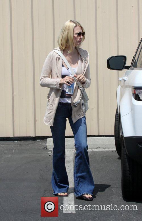 Actress January Jones  seen out and about...