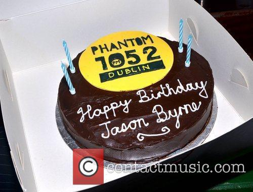 Comedian Jason Byrne celebrates his 40th birthday with...
