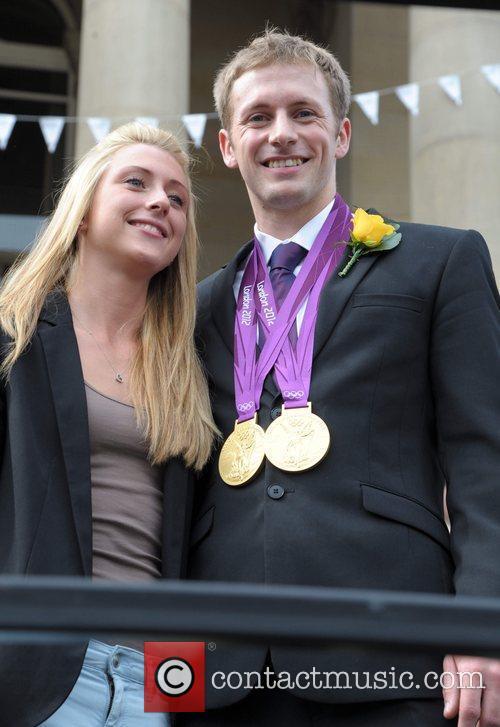Laura Trott and her boyfriend Jason Kenny...