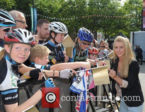Laura Trott Olympic gold medal cyclist Jason Kenny...