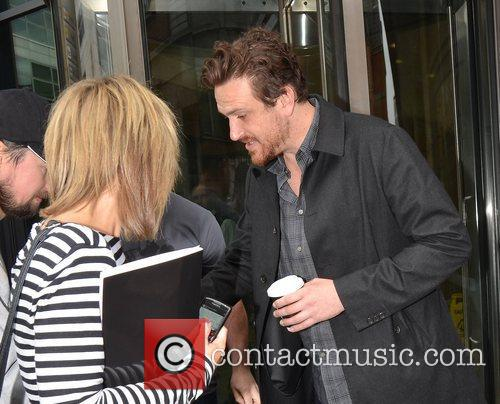 Jason Segel  at the Today FM studios...