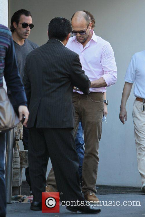 Jason Statham leaving lunch with a friend in...