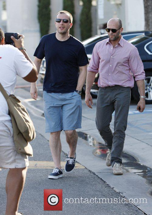 Jason Statham leaves a restaurant in West Hollywood...