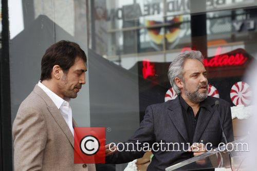 Javier Bardem and Sam Mendes 2