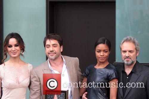 Javier Bardem, B, Naomie Harris, Marlohe and Sam Mendes 4