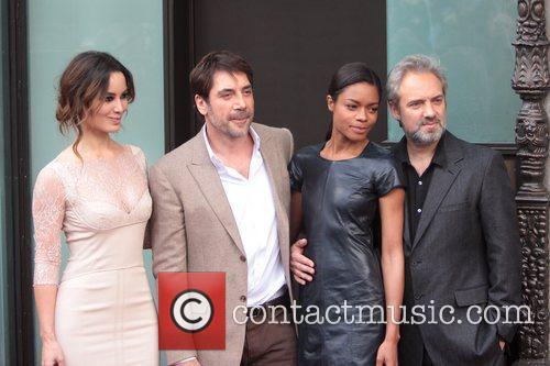 Javier Bardem, B, Naomie Harris, Marlohe and Sam Mendes 6