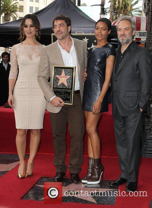 Berenice Marlohe, Javier Bardem, Naomie Harris and Director Sam Mendes 5