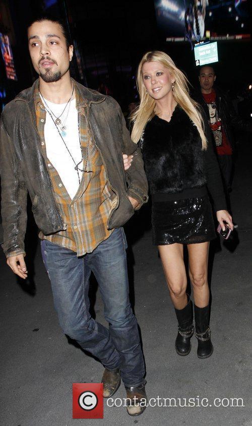 Tara Reid arriving at the Staples Center to...