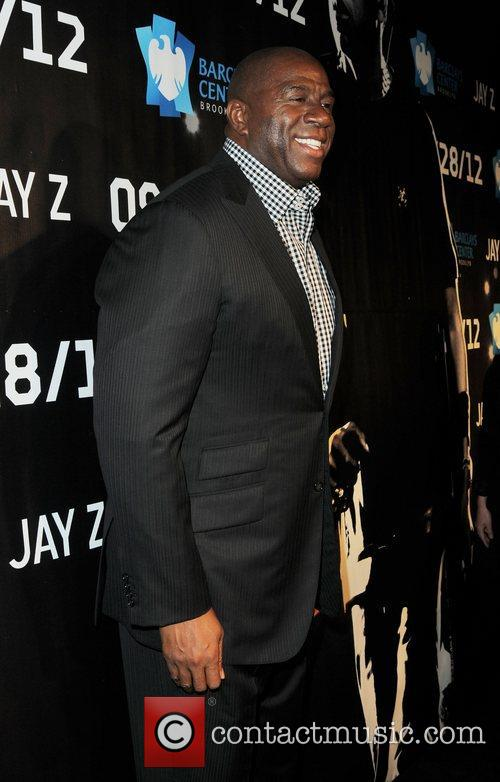Attends Jay-Z in concert at the Barclays Center...