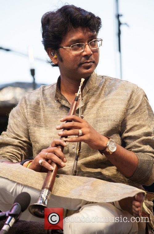 Anoushka Shankar's band member performing at Jazz A...