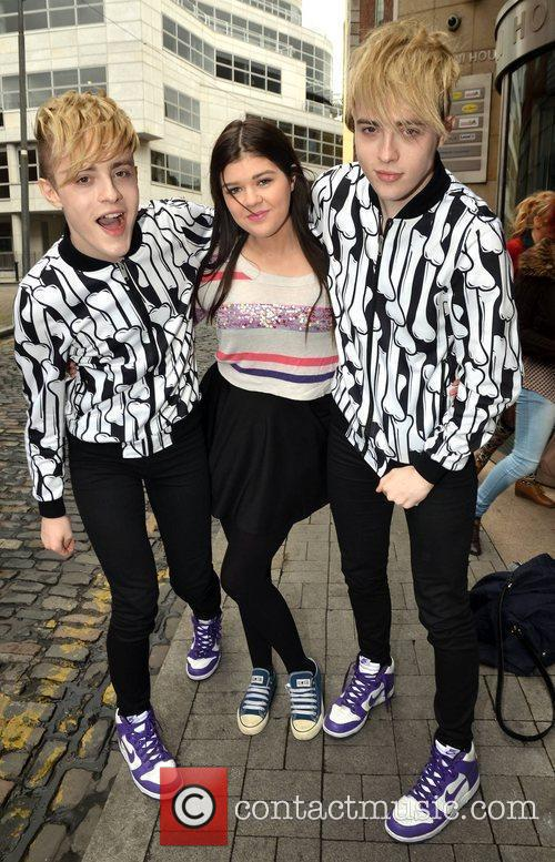 Jedward with fan Jodie Muldoon After partying with...