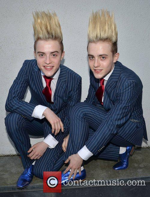 John Grimes and Edward Grimes, aka Jedward arrive...