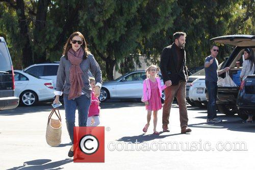 Ben Affleck, Jennifer Garner and daughters Seraphina Affleck...