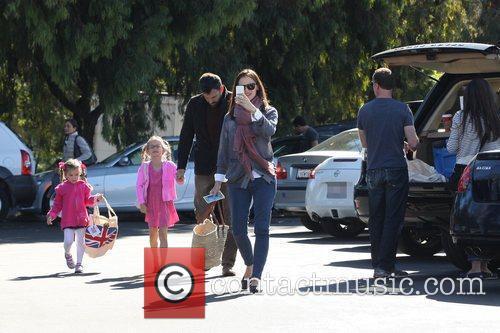 Ben Affleck, Jennifer Garner, Seraphina Affleck, Violet Affleck and Brentwood 2