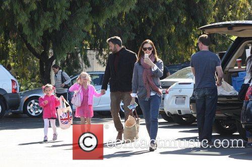 Ben Affleck, Jennifer Garner, Seraphina Affleck, Violet Affleck and Brentwood 11