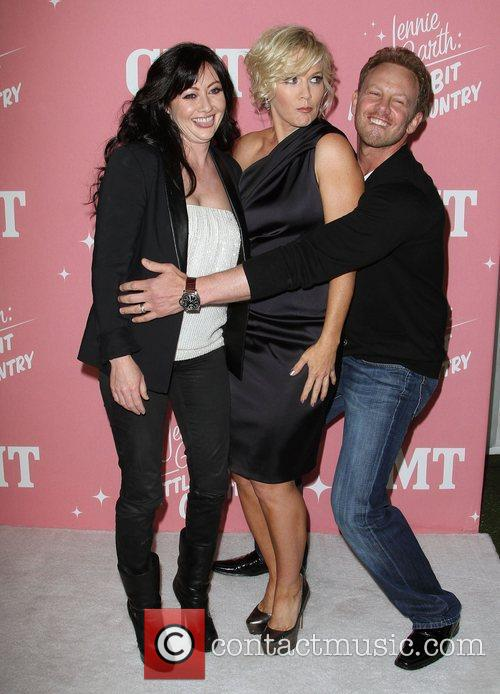 Shannen Doherty, Ian Ziering and Jennie Garth 1