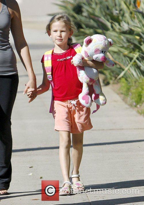 Jennifer Garner's daughter Violet Affleck out and about...