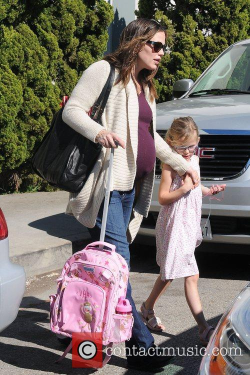 Pregnant Jennifer Garner and daughter Violet Affleck are...