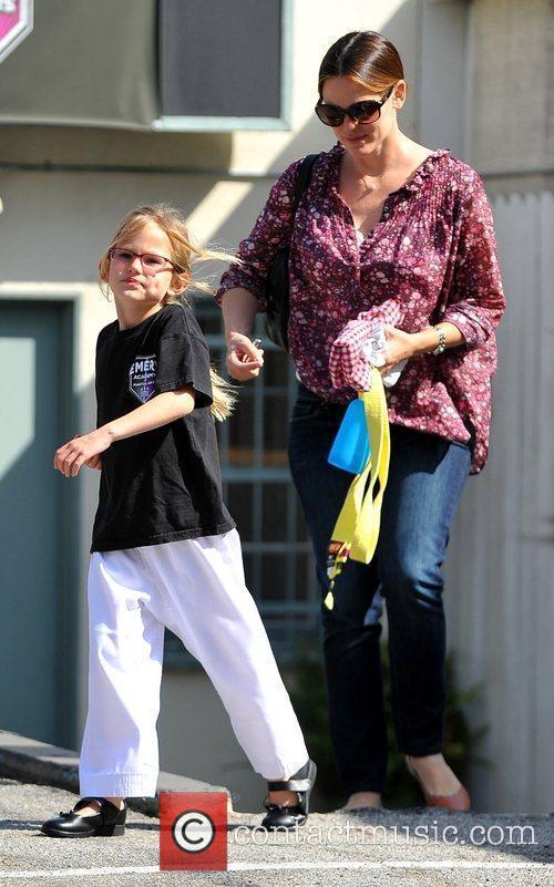 Jennifer Garner collects her daughter Violet from karate...