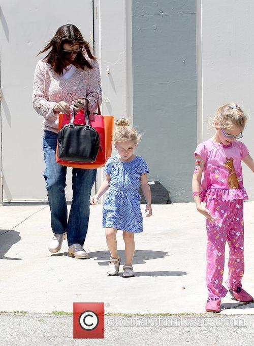 Jennifer Garner with her daughters Violet Affleck and...