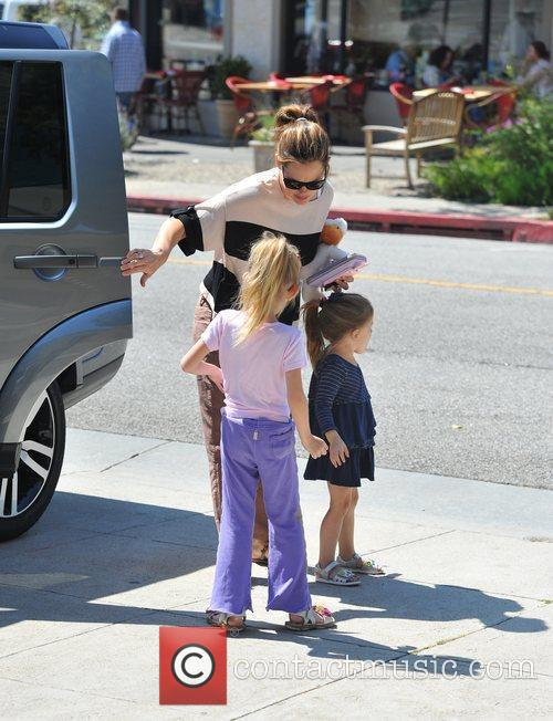 Jennifer Garner with her daughters Seraphina and Violet...