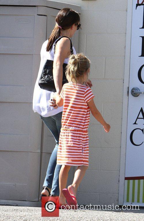 Jennifer Garner shops at Baby2Baby with her daughter...
