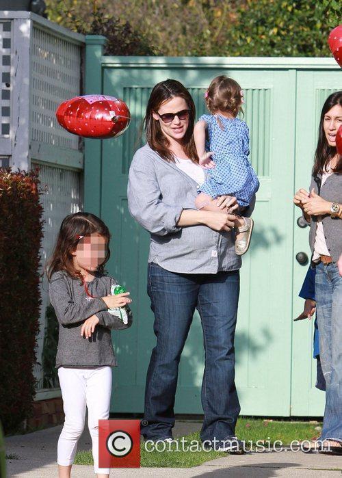 Jennifer Garner and her youngest daughter Seraphina Affleck...