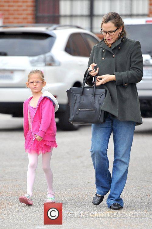 Jennifer Garner and daughter Violet Affleck are seen...