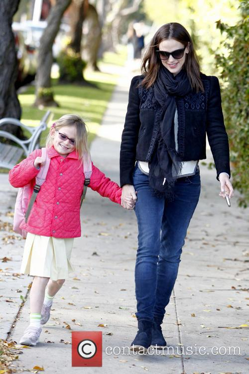 Jennifer Garner collects her daughter Violet Affleck from...