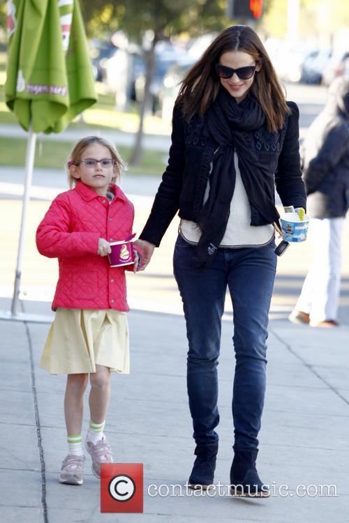 Jennifer Garner collects her daughter Violet Affleck from...