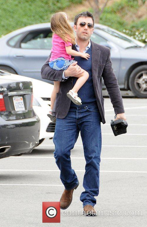 Ben Affleck and his daughter Seraphina arrive at...