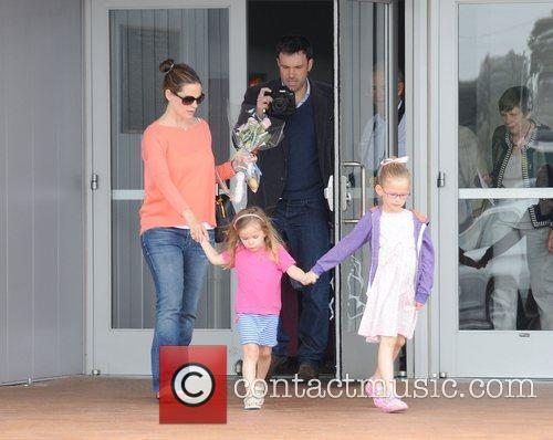 Jennifer Garner and her husband Ben Affleck and...