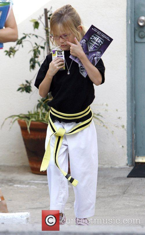 Jennifer Garner collects her daughter Violet from Karate...