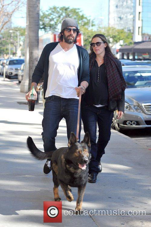A very pregnant Jennifer Garner and Ben Affleck...