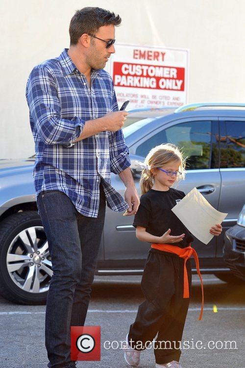 Ben and Violet Affleck Jennifer Garner and husband...
