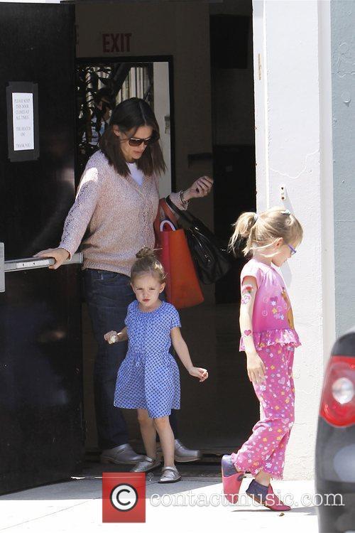 Jennifer Garner and her daughters Violet Affleck and...