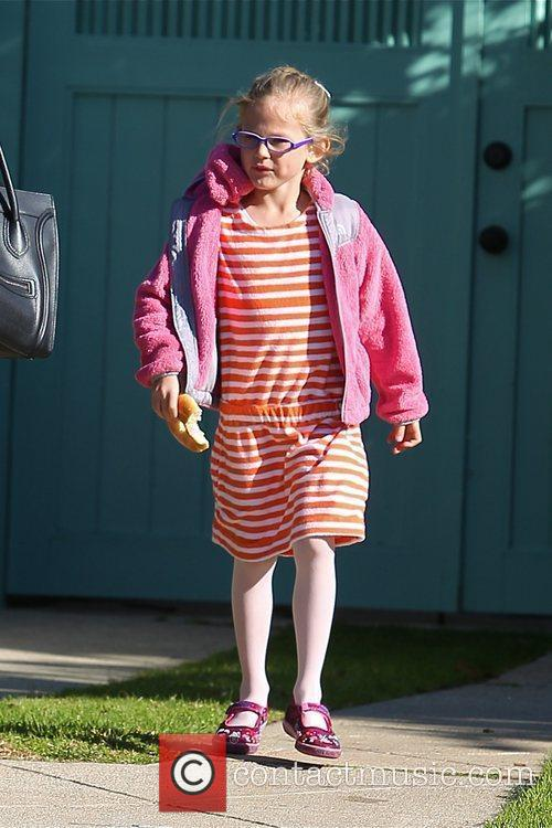Violet Affleck seen on her way back from...