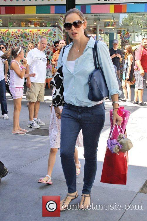 Seen with daughter Violet Affleck shopping at the...